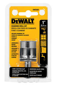 DeWalt  1 in. Dia. x 2-1/4 in. L Straight Shank  1 pc. Diamond Tipped  Tile Drill Bit