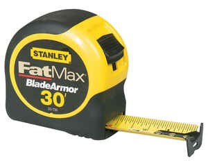 Stanley FatMax  1.25 in. W x 30 ft. L Tape Measure  1 pk Yellow