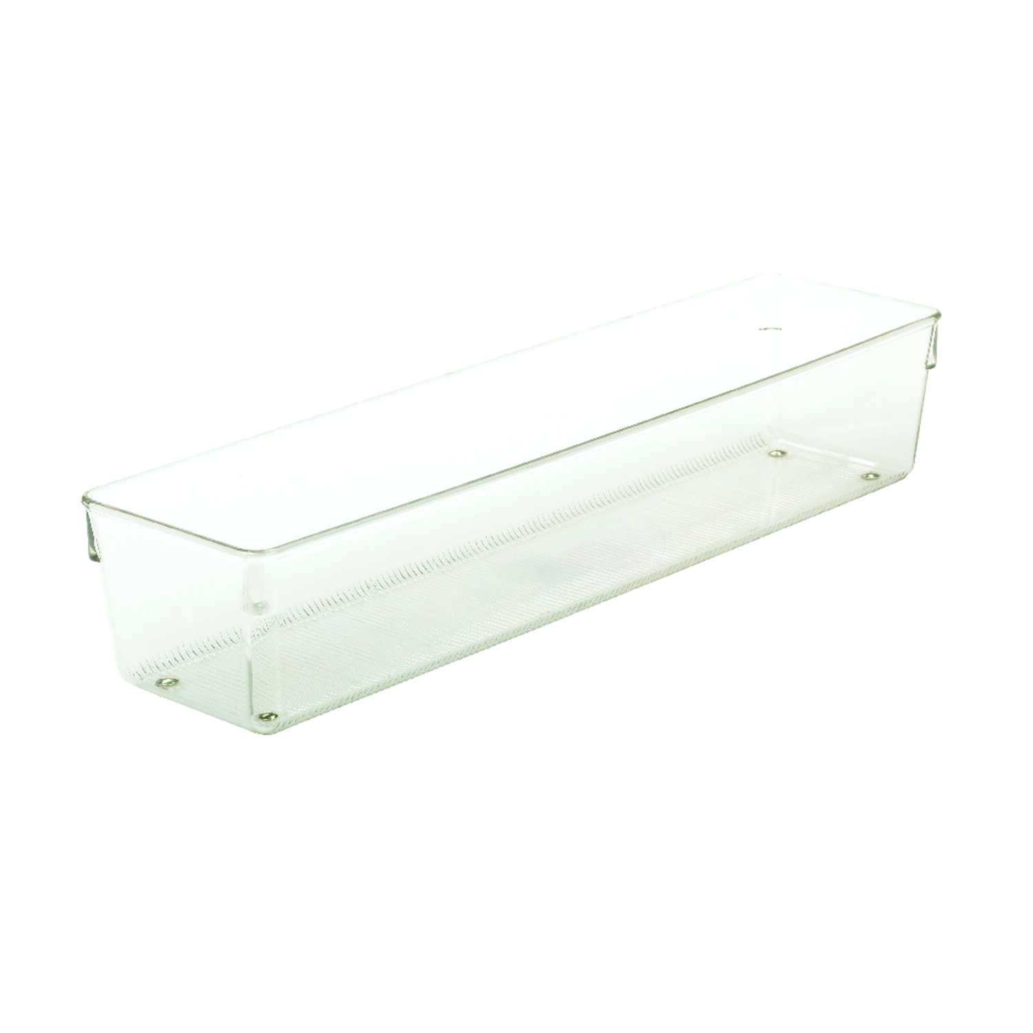 InterDesign  3 in. W x 16 in. L x 3 in. H Clear  Drawer Organizer  Plastic