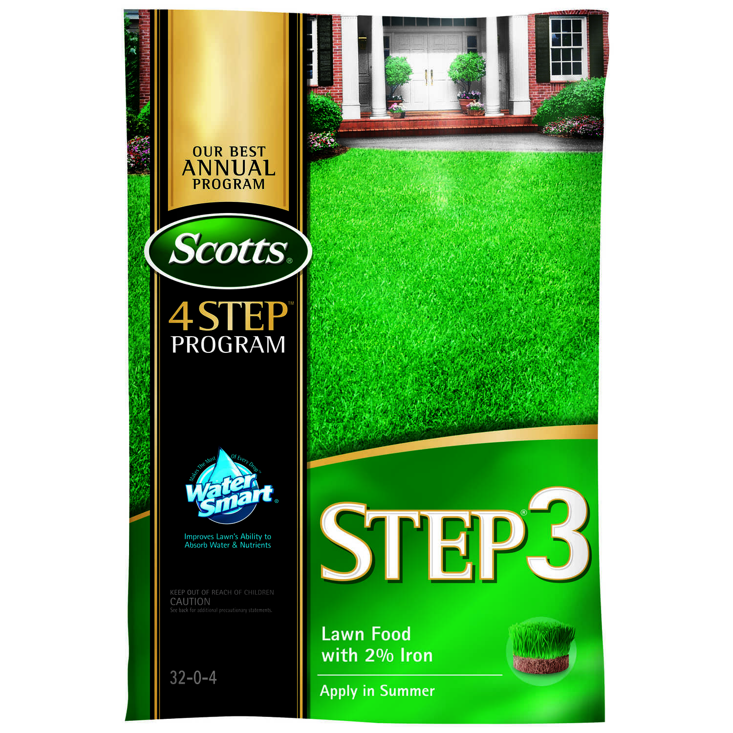 Scotts  Step 3  32-0-4  Lawn Food  For All Grass Types 39.1 lb. 15000 sq. ft.