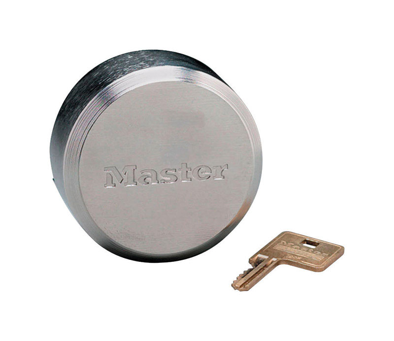 Master Lock  Pro Series  2.875 in. W Pin Tumbler  Zinc Die-Cast  1 each Keyed Alike Disk Padlock