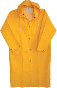 Boss  Yellow  PVC-Coated Rayon  Rain Jacket  XXL