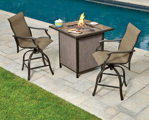 Living Accents  3 pc. Monaco  Fire Pit Seating Set