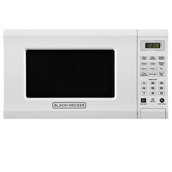 Black and Decker  0.7 cu. ft. White  Microwave  700 watts
