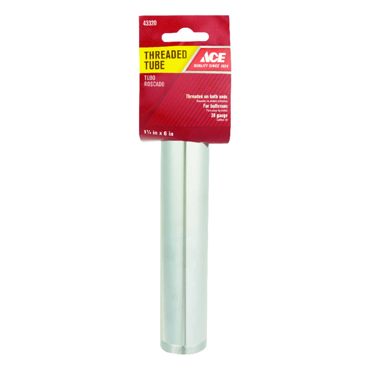 Ace  1-1/4 in. Dia. x 6 in. L Brass  Threaded Tube