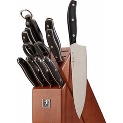 Zwilling Henckels  Definition  Stainless Steel  Wood Block Knife Set  12 pc.