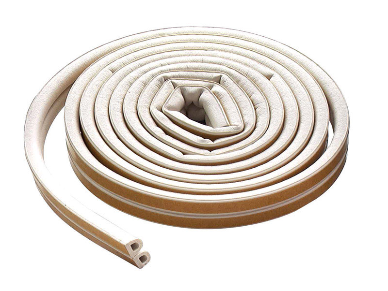 M-D Building Products  White  Rubber  5/16 in.  x 17 ft. L Weather Stripping  For Extreme Temperatur