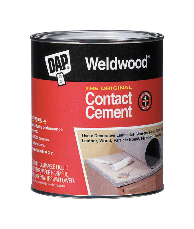 DAP  Weldwood The Original  High Strength  Rubber  Contact Cement  1 pt.