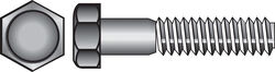 Hillman 3/8 in. Dia. x 3 in. L Zinc Plated Steel Hex Bolt 50 pk