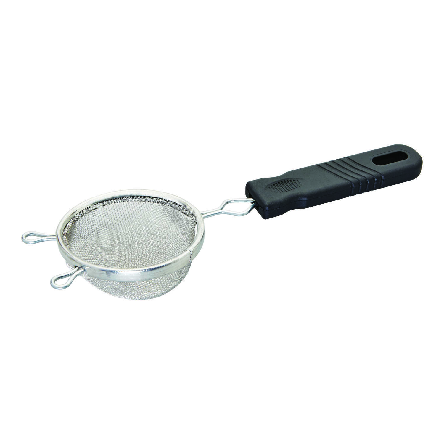 Good Cook  3 in. W Silver/Black  Mesh Strainer