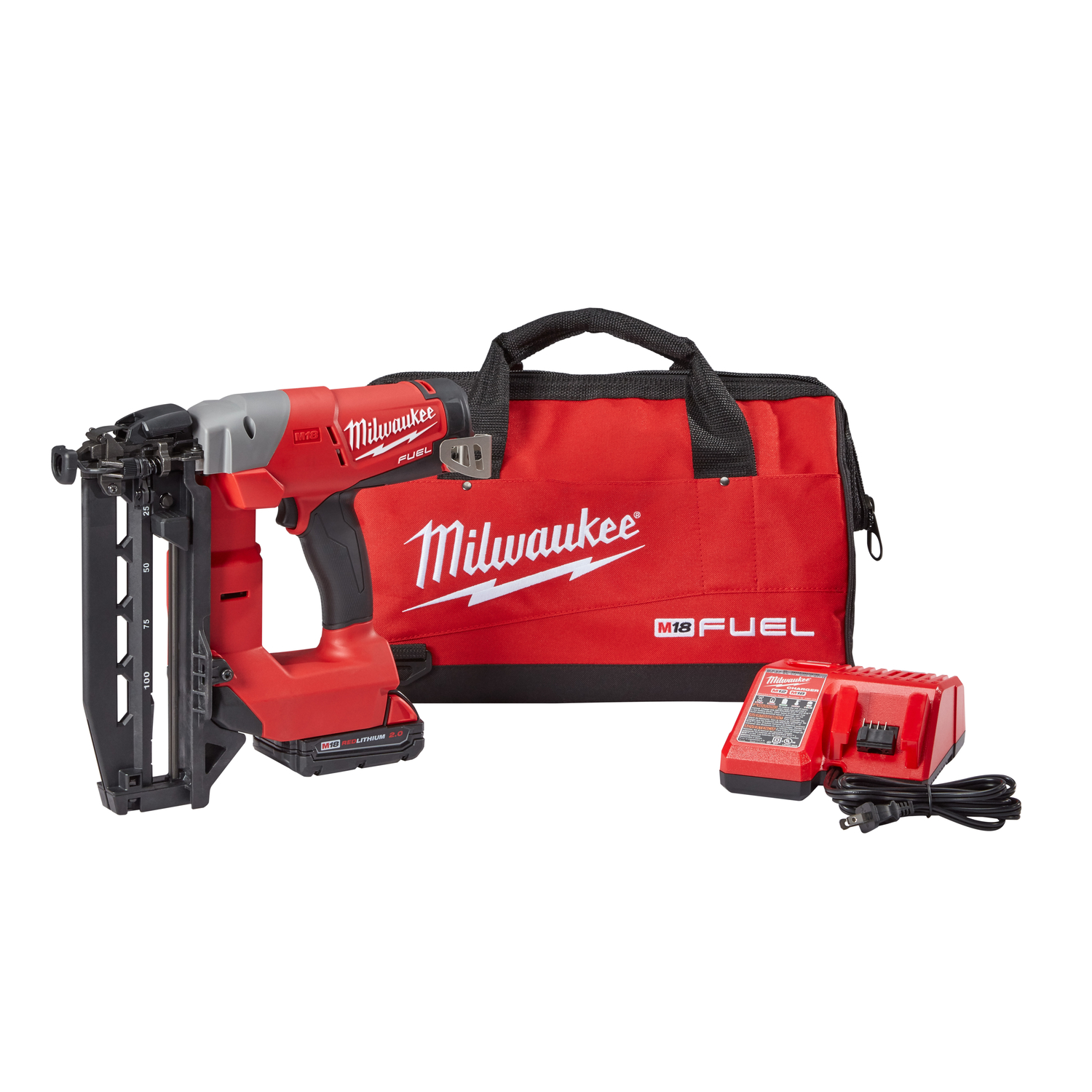 Milwaukee  M18 FUEL  16 Ga. 90 deg. Finish Nailer  Finish Nailer  18 volts Kit