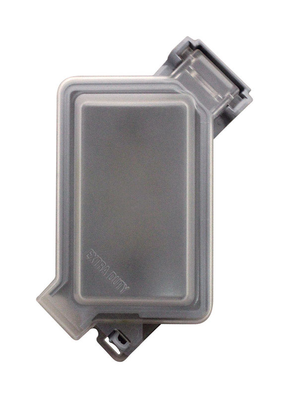 Sigma  Rectangle  Aluminum  1 gang In-Use Cover  For Wet Locations