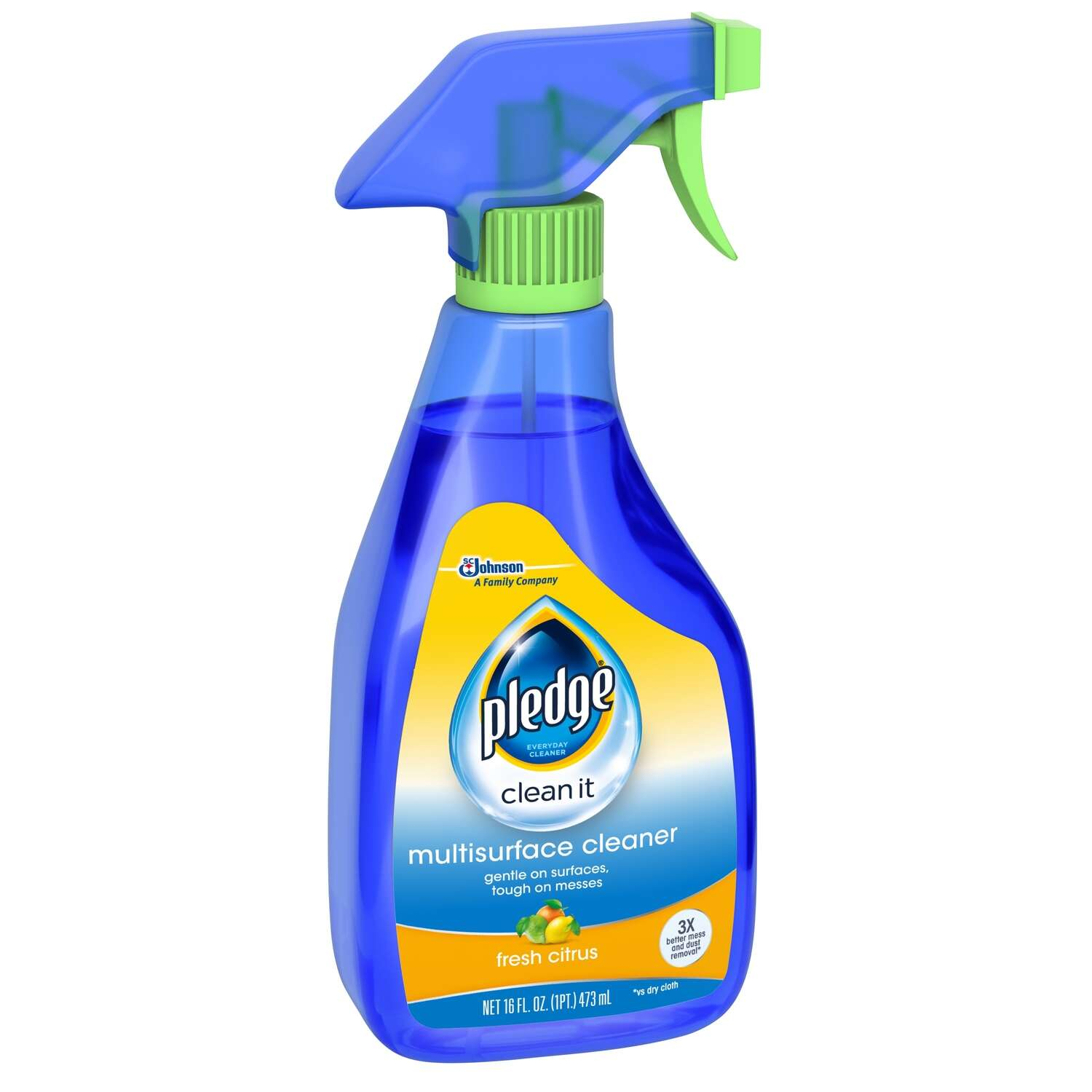 Pledge  No Scent Multi-Surface Cleaner, Protector and Deodorizer  Liquid  16 oz.