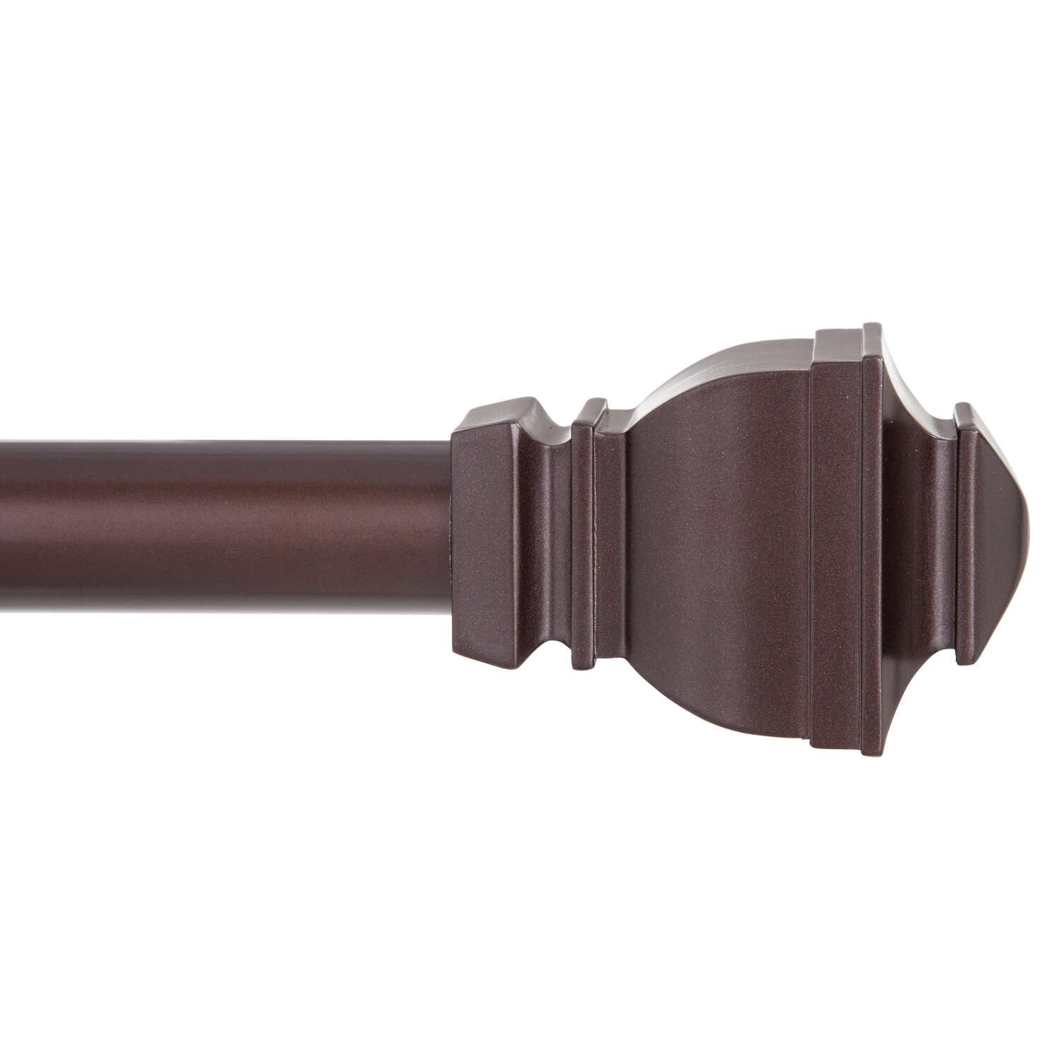 Kenney  Matte  Brown  Riley  Curtain Rod  30 in. L x 84 in. L