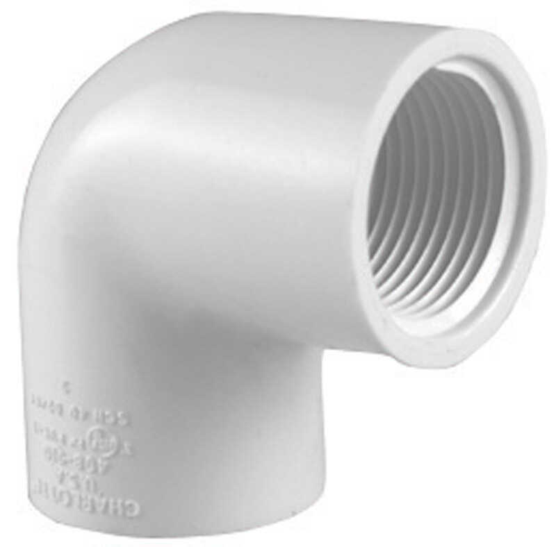 Charlotte Pipe  Schedule 40  3/4 in. FPT   x 3/4 in. Dia. FPT  PVC  Elbow