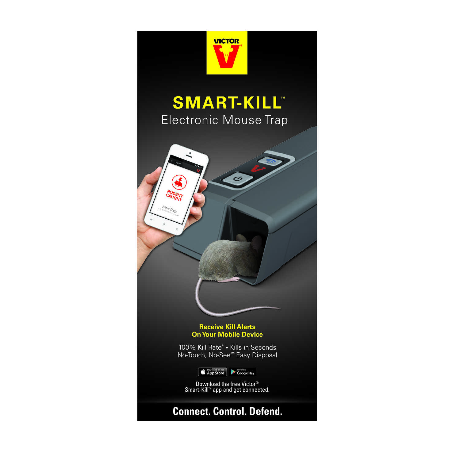 Victor  Smart Kill  Electronic  Animal Trap  For Mice 1 pk