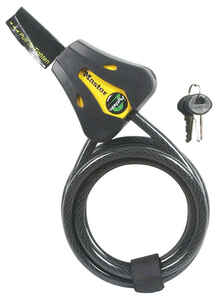 Master Lock  Python  5/16 in. Dia. x 72 in. L Vinyl Coated Steel  Adjustable Locking Cable