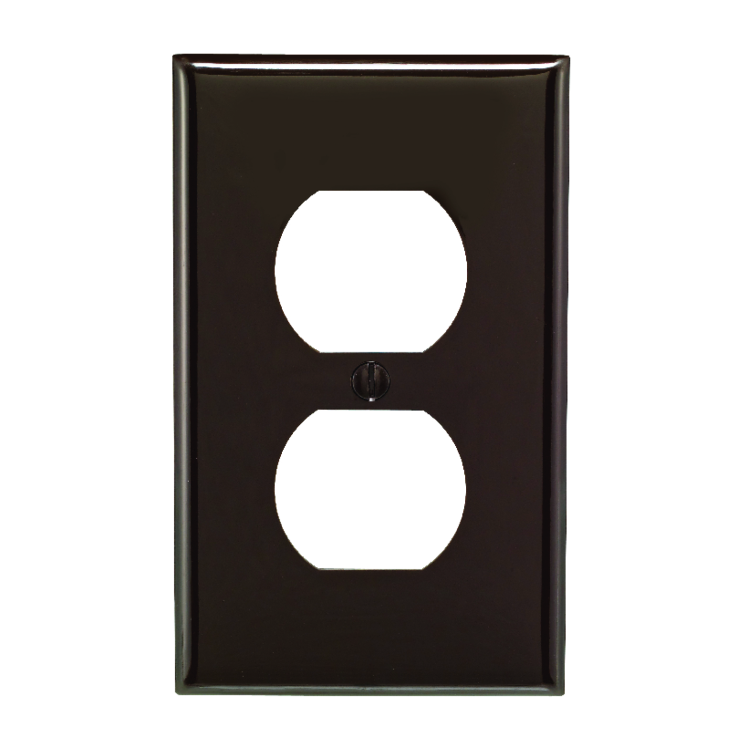 Leviton  Brown  1 gang Nylon  Wall Plate  1 pk Duplex Outlet