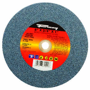 Forney  6 in. Dia. x 3/4 in. thick  x 1 in.   Aluminum Oxide  Bench Grinding Wheel  4100 rpm 1 pc.