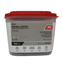 Ace  No. 6   x 2 in. L Phillips  Drywall Screws  5 lb. 945 pk