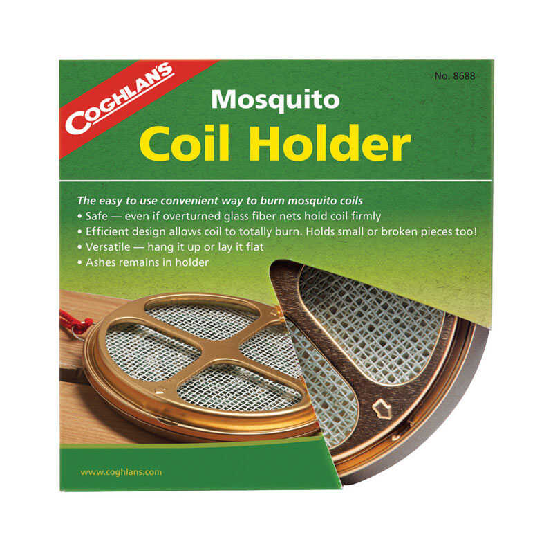 Coghlan's  Brown  Mosquito Coil Holder  5.500 in. H x 10 in. W x 0.750 in. L 1 pk