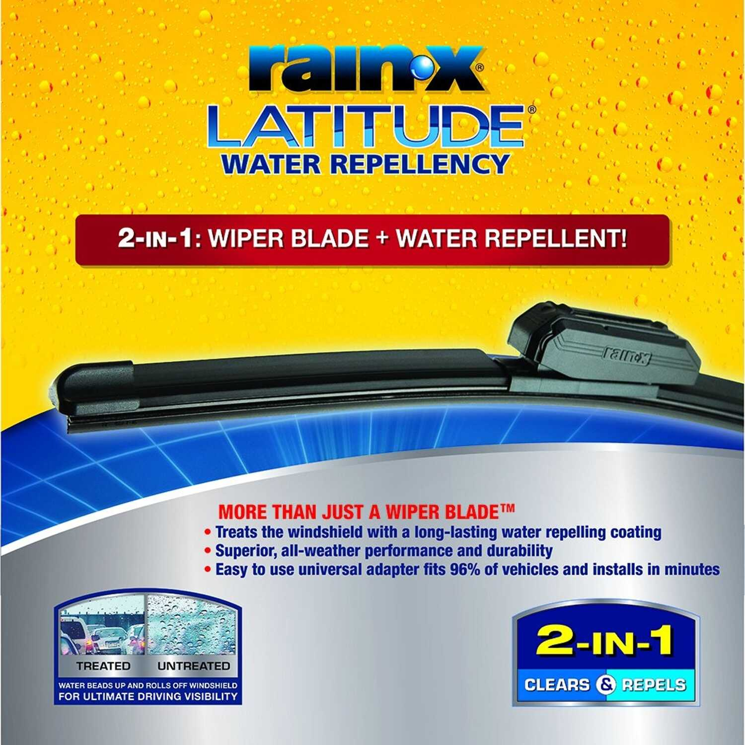 Rain-X  Latitude  18 in. All Season  Windshield Wiper Blade