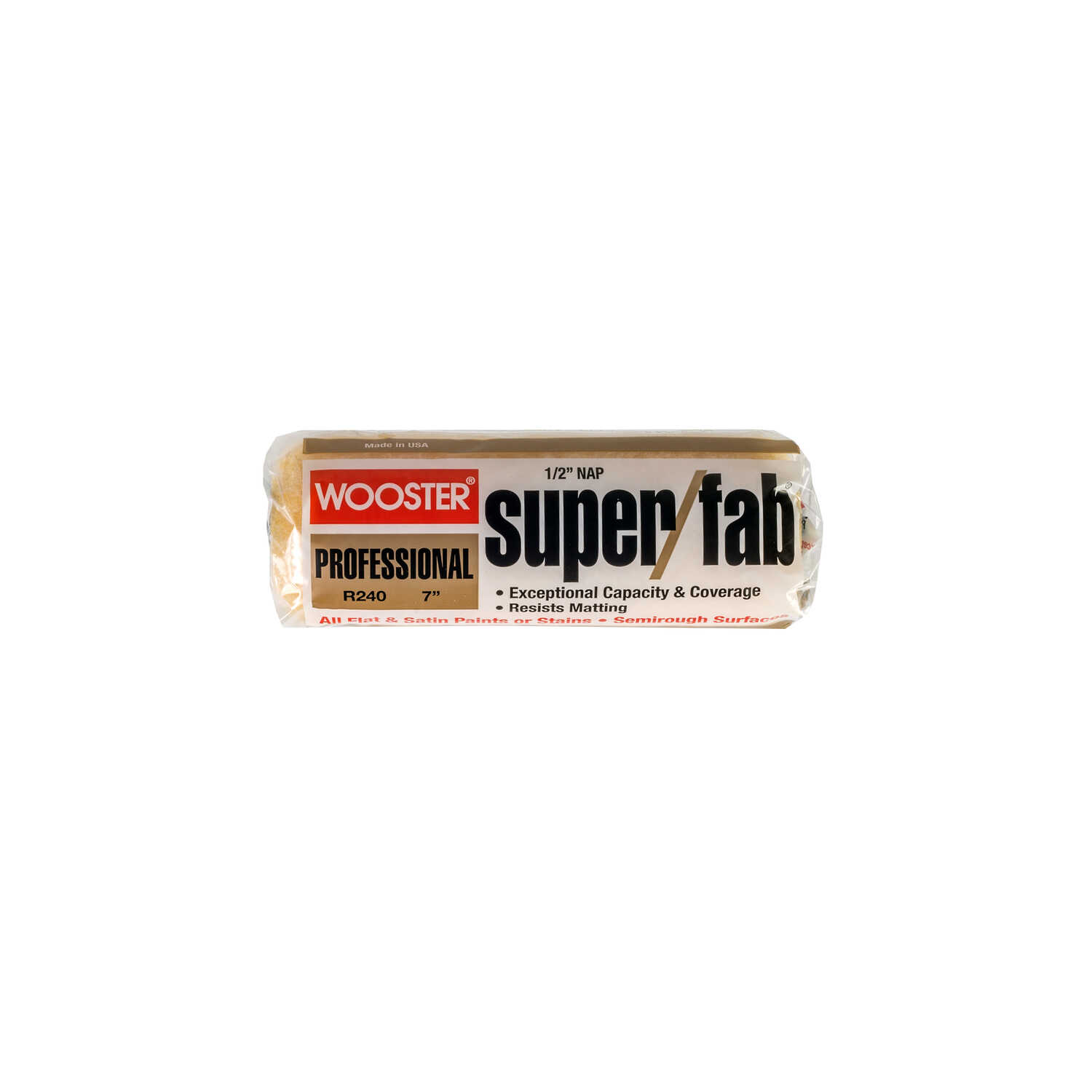 Wooster  Super/Fab  Knit  1/2 in.  x 7 in. W Regular  Paint Roller Cover  For Semi-Rough Surfaces 1