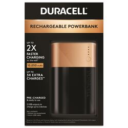 Duracell 3X Rechargeable Power Bank 10050 mAh 1 pk
