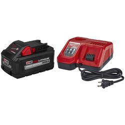 Milwaukee  M18 REDLITHIUM  XC8.0  18 volt 8 Ah Lithium-Ion  Battery and Charger Starter Kit  2 pc.