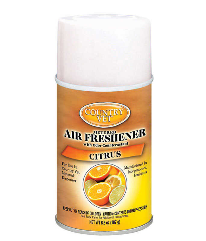 Country Vet  Citrus Scent Air Freshener Refill  6.6 oz. Aerosol