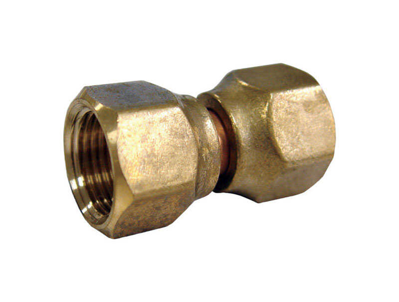 Ace  1/4 in. Dia. x 1/4 in. Dia. Brass  Swivel Connector