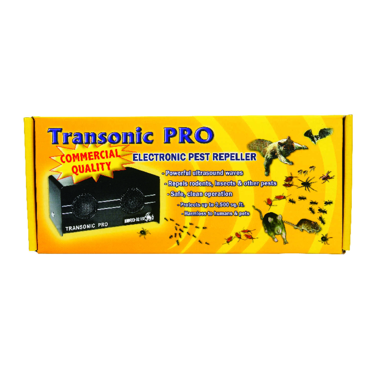 Bird-X  Transonic Pro  Sonic Pest Repeller  For Insects and Small Critters