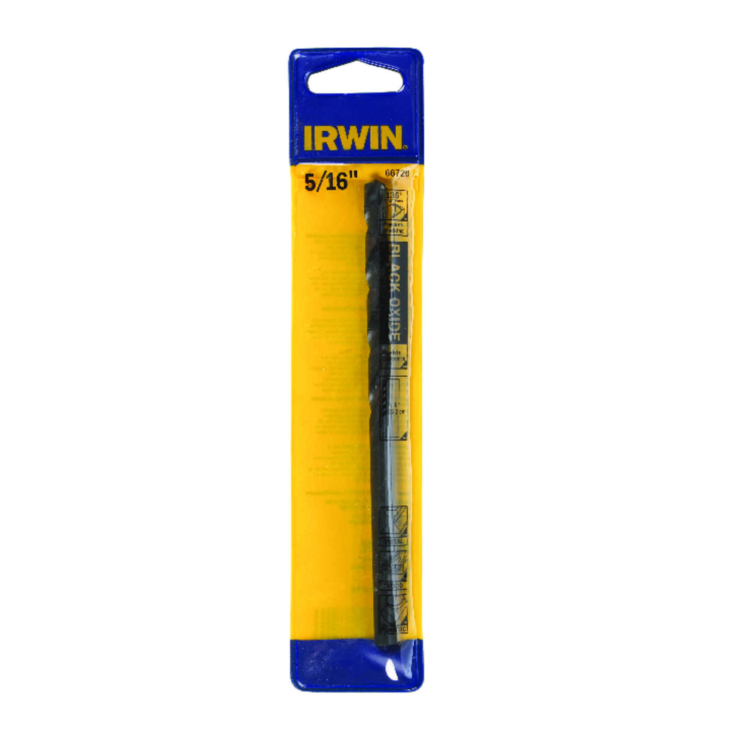 Irwin  5/16 in. Dia. x 6 in. L High Speed Steel  Split Point Drill Bit  1 pc.