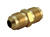 JMF  3/8 in. Flare   x 3/8 in. Dia. Flare  Brass  Space Heater Union