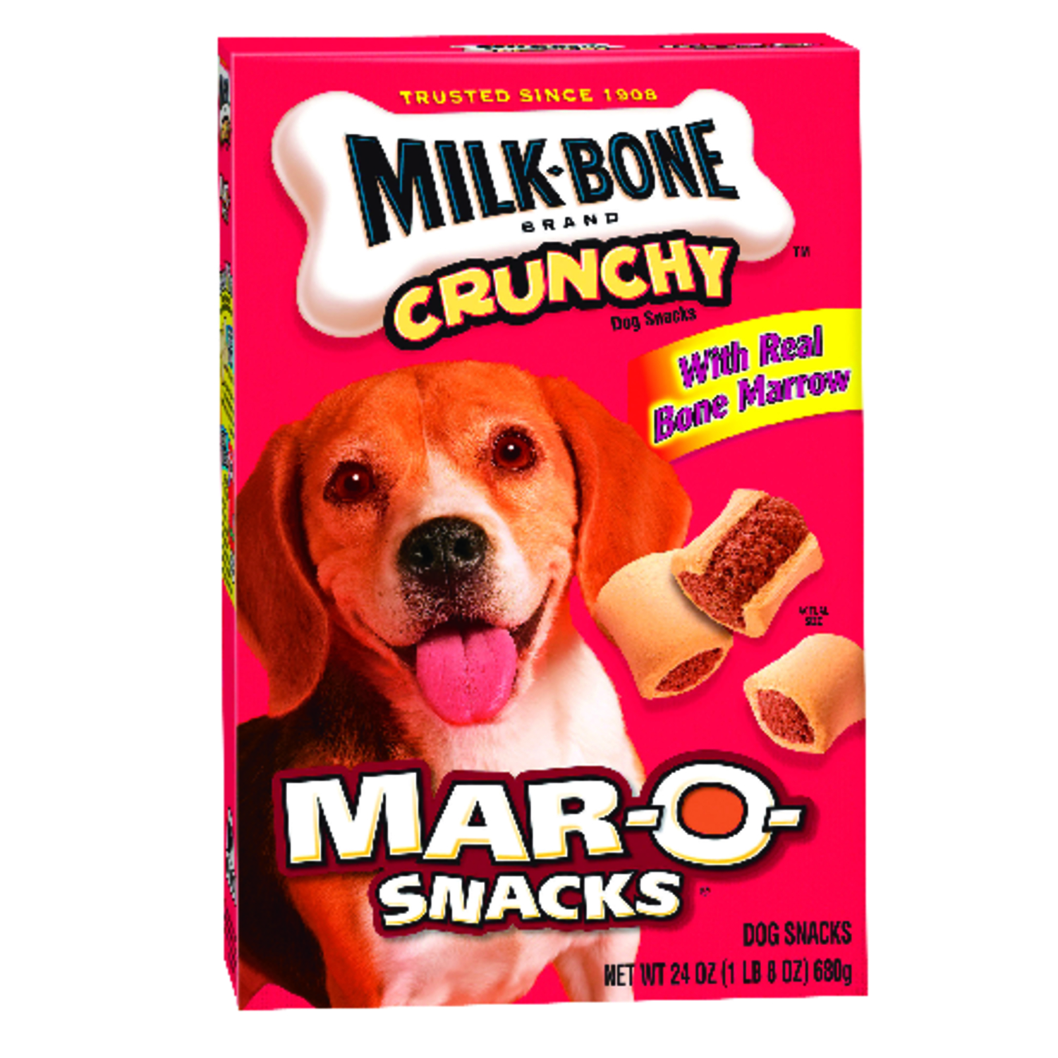 Milk Bone  Mar-O-Snacks  Bacon  Dog  Biscuit  1 pk 24 oz.