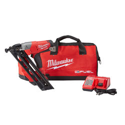 Milwaukee M18 FUEL 15 Ga. Cordless Angled Finish Nailer Kit 18 volt