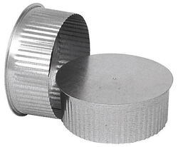 Imperial Manufacturing 6 in. Dia. Galvanized steel Crimped Pipe End Cap