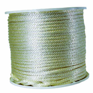 Wellington  3/8 in. Dia. x 500 ft. L White  Solid Braided  Nylon  Rope
