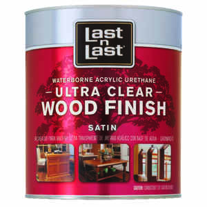 Last N Last  Waterborne Wood Finish  Satin  Clear  Polycrylic  1 qt.