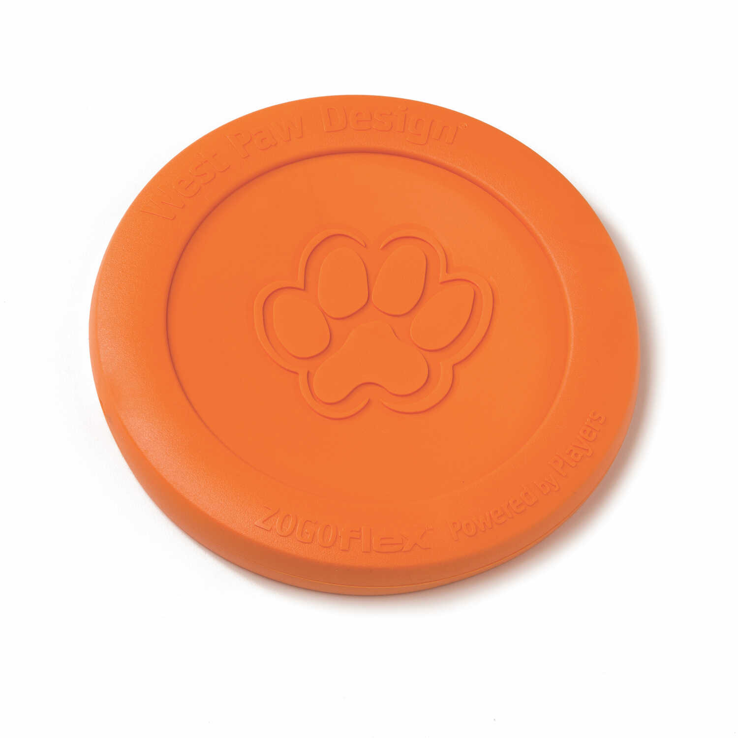 West Paw  Zogoflex  Orange  Zisc Disc  Synthetic Rubber  Frisbee  Small