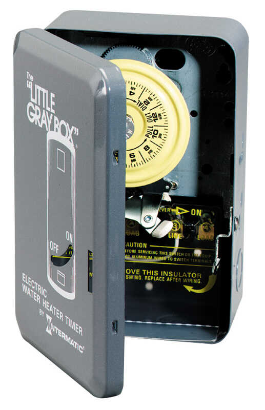 Intermatic  Indoor  Electric Water Heater Timer  250 volt Gray