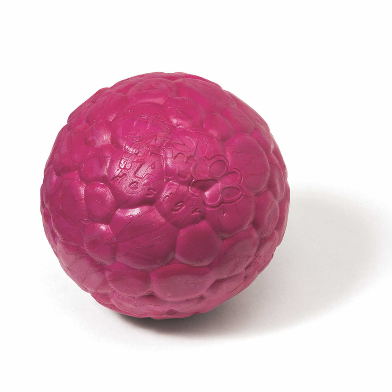 West Paw  Zogoflex Air  Pink  Boz  Synthetic Rubber  Ball Dog Toy  Medium