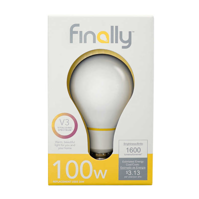Finally  Lucidity Lights  26 watts A19  LED Bulb  1600 lumens Warm White  A-Line  100 Watt Equivalen