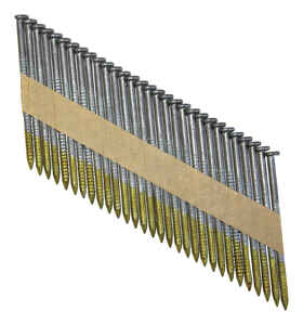 National Nail  Pro-Fit  3 in. .120 Ga. Paper Strip  Framing Nails  Ring Shank  2000 pk
