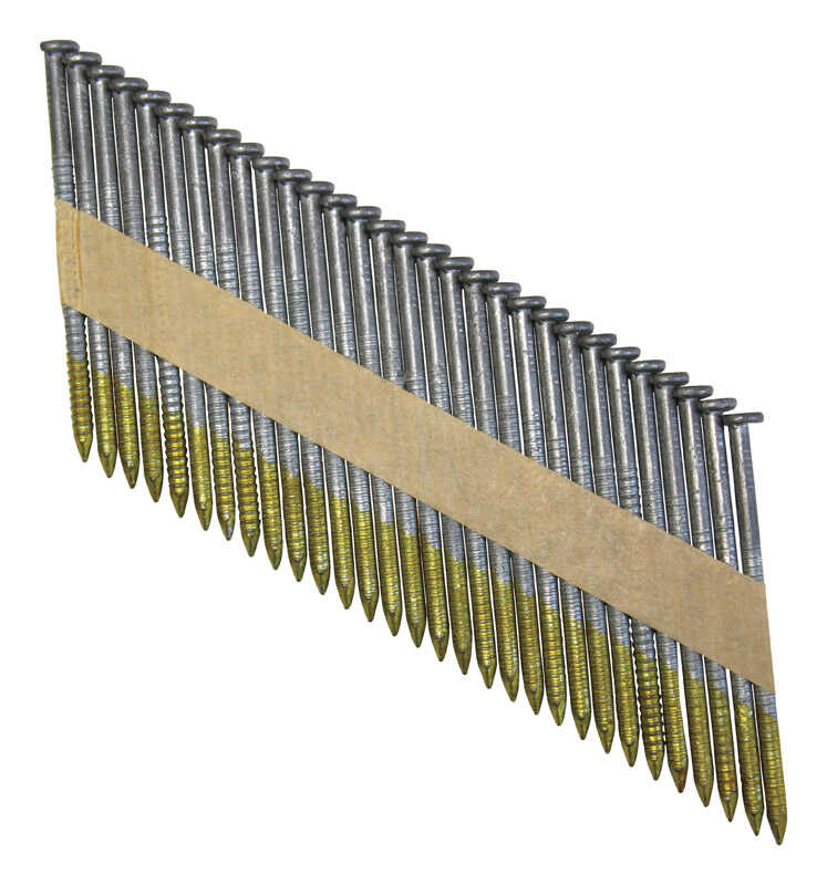 National Nail  Pro-Fit  .120 Ga. Ring Shank  Paper Strip  Framing Nails  3 in. L x 0.1 in. Dia. 2000