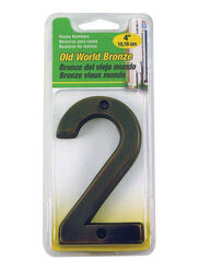 Hy-Ko  4 in. Bronze  Brass  Nail-On  Number  2  1 pc.