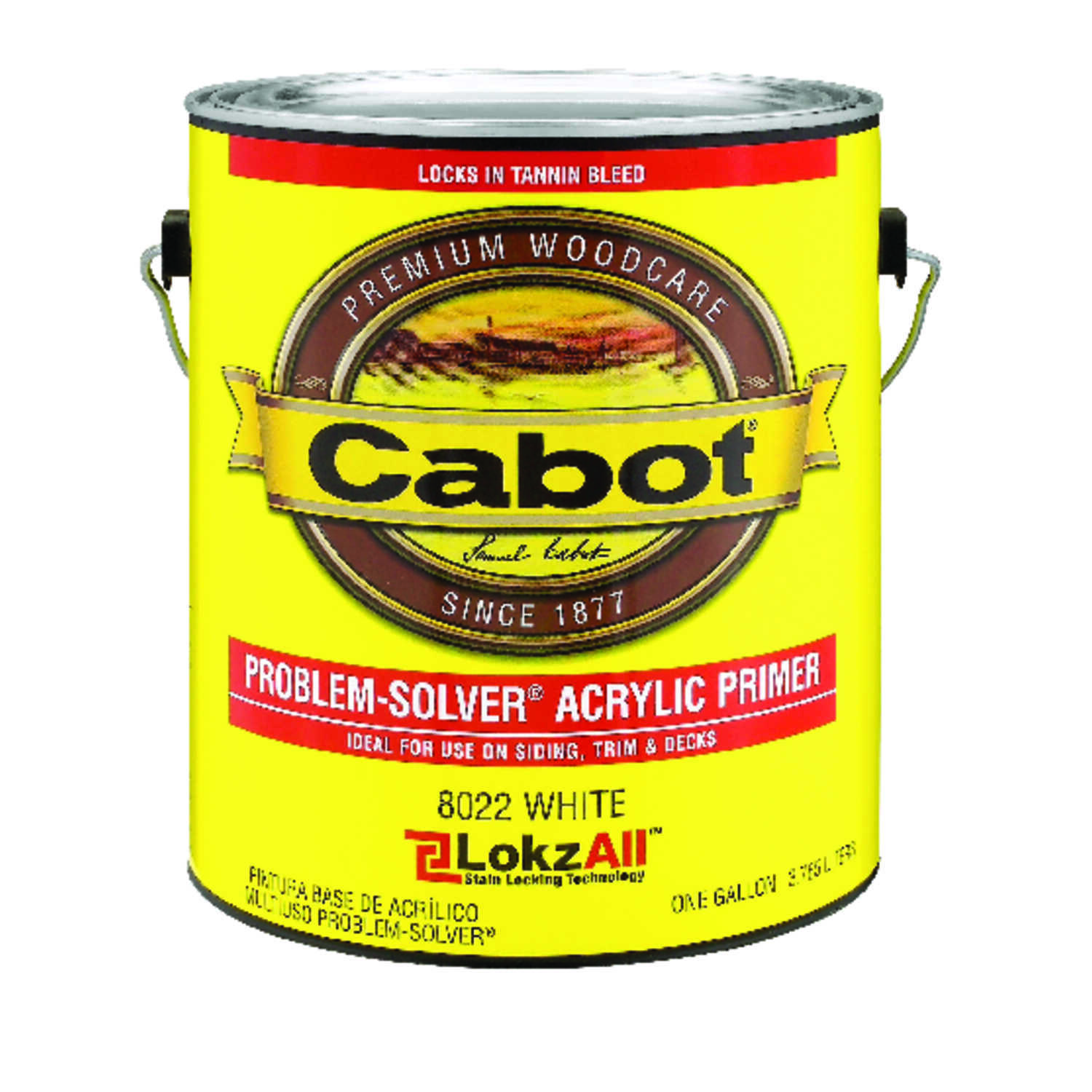 Cabot  Problem-Solver  Solid Color  White  Acrylic  Primer  For Wood 1 gal.