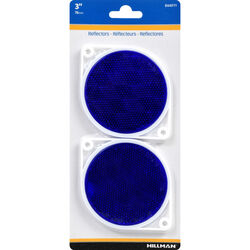 Hillman 3 in. Round Blue Reflectors 2 pk