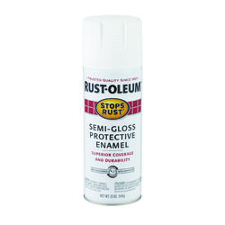 Rust-Oleum  Stops Rust  Semi-Gloss  White  Spray Paint  12 oz.