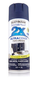 Rust-Oleum  Painter's Touch Ultra Cover  Satin  Midnight Blue  Spray Paint  12 oz.